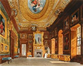 Queen Caroline's Drawing Room, Kensington Palace, from 'The History of the the Royal Residences', en