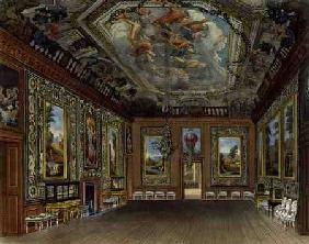 The Queen's Drawing Room, Windsor Castle, from 'Royal Residences', engraved by Thomas Sutherland (b.