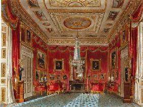 The Rose Satin Drawing Room, Carlton House, from 'The History of the Royal Residences', engraved by