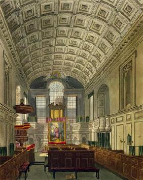 The German Chapel, St. James's Palace, from 'The History of the Royal Residences', engraved by Danie