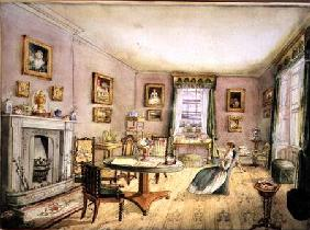 The Drawing Room, East Wood, Hay, f54 from an Album of Interiors