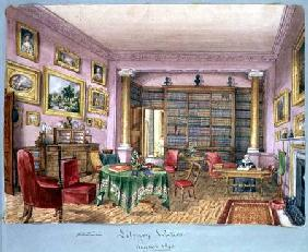 Library, Vinters, f.16 from an 'Album of Interiors'