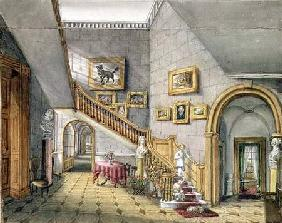 The Staircase, Strood Park, f.26 from an 'Album of Interiors'
