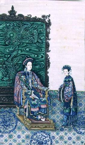 Empress Seated with a Lady