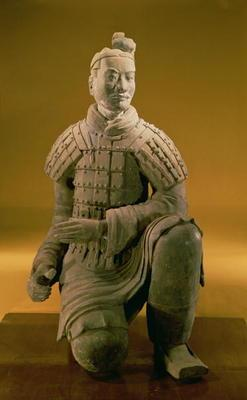 Kneeling archer from the Terracotta Army, 210 BC (terracotta)
