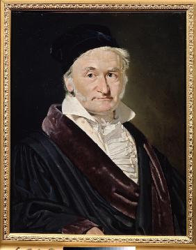 Portrait of the Mathematician, Astronomer and Physicist Carl Friedrich Gauss (1777-1855)