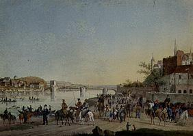 Transition of the Cossacks over the Elbe, March