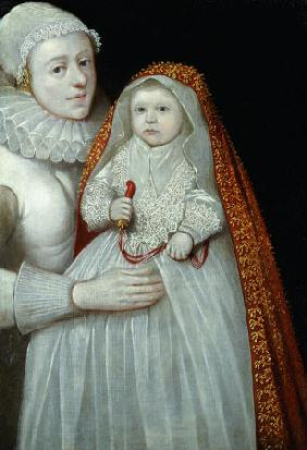 A Christening Portrait Of A Mother And Child