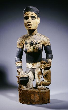 A Fine And Rare Yombe Maternity Figure, 72cm High