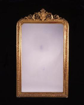 A French Gilt Gesso Overmantel Wall Mirror