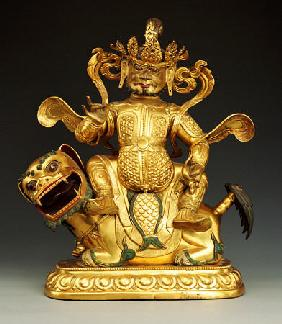 A Gilt-Bronze Figure Of Vaisravana, 17th/18th Century
