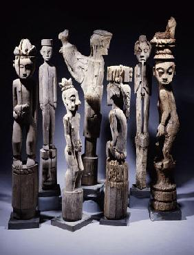 A Group Of Dayak Hampatong  Statues From Borneo