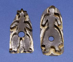 A Pair Of Tinned Sheet Metal Cookie Cutters