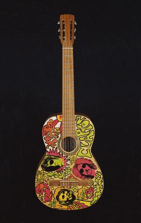 A Psychedelic Guitar, Possibly Used By Eric Clapton When He Played In The Band ''Cream'' Circa 1967