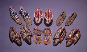 A Selection Of American Indian Moccasins