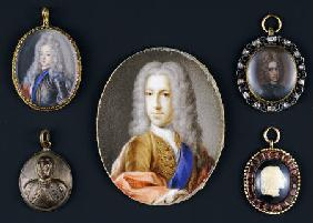 A Selection Of Miniature Portraits Depicting Prince James Francis Edward Stuart, The Old Pretender (