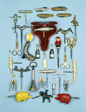 A Selection Of Vintage Novelty Corkscrews