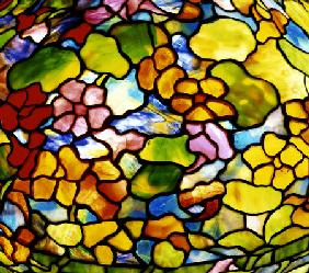 Detail Of A ''Nasturtium'' Leaded Glass And Bronze Table Lamp By Tiffany Studios, Circa 1910