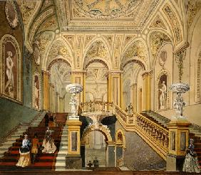 Interior Views Of The Conservative Club: Entrance Hall And Grand Staircase Frederick J Sang (1840-18