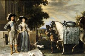 King Charles I And Queen Henrietta Maria Departing For The Chase