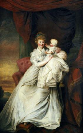 Portrait Of Eleanor, Countess Of Harborough, With Her Son Robert