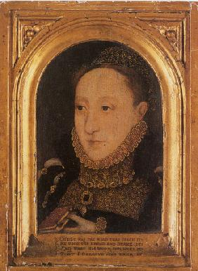 Portrait Of Queen Elizabeth I, Bust-Length, Holding A Prayer Book