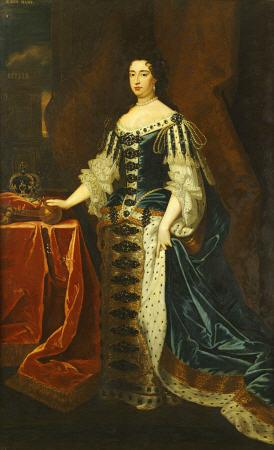 Portrait Of Queen Mary II (1662-1694, In State Robes