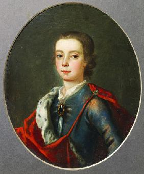 Prince Charles Edward Stuart (1720-1788), Facing Left In Blue Shot Silk Coat, White Lace Collar, Jew