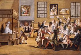 Scene In A London Coffee House