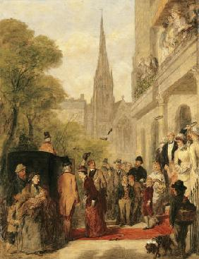 Study For ''For Better, For Worse'' William Powell Frith, R