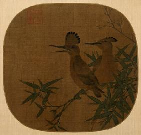 Two Birds On A Bamboo Branch