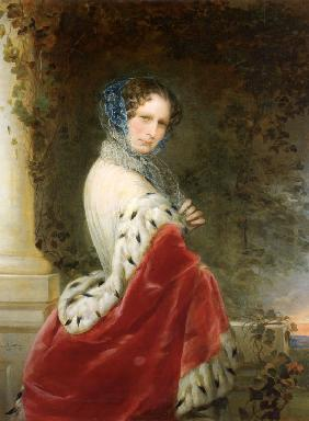 Portrait of Empress Alexandra Fyodorovna (Charlotte of Prussia), Emperor's Nicholas I wife (1798-186