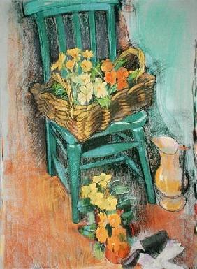 The Green Chair (pastel on paper)