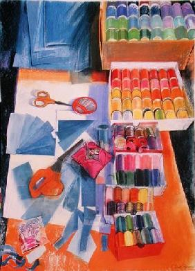 Workbench (pastel on paper)
