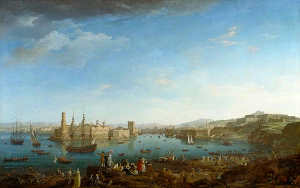 l entr 233 e du port de marseille claude joseph vernet as print or painted