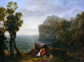 Coastal landscape with Acis and Galatea.