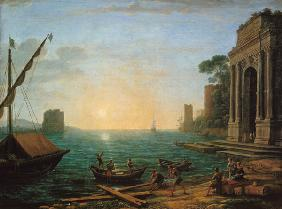Seaport for the rising of the sun
