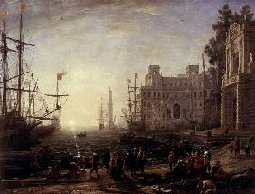 Harbour with Villa Medici