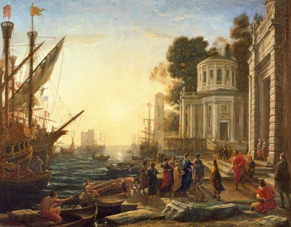 Cleopatra Disembarking at Tarsus