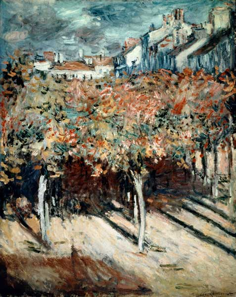 blick aus dem fenster der villa saint louis claude monet as art print or hand painted oil. Black Bedroom Furniture Sets. Home Design Ideas