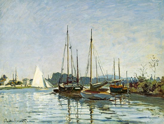 pleasure boats argenteuil claude monet as art print or hand painted oil. Black Bedroom Furniture Sets. Home Design Ideas