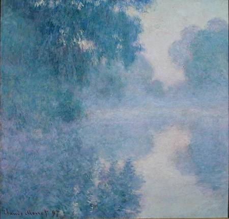 Branch Of The Seine Near Giverny Claude Monet As Art