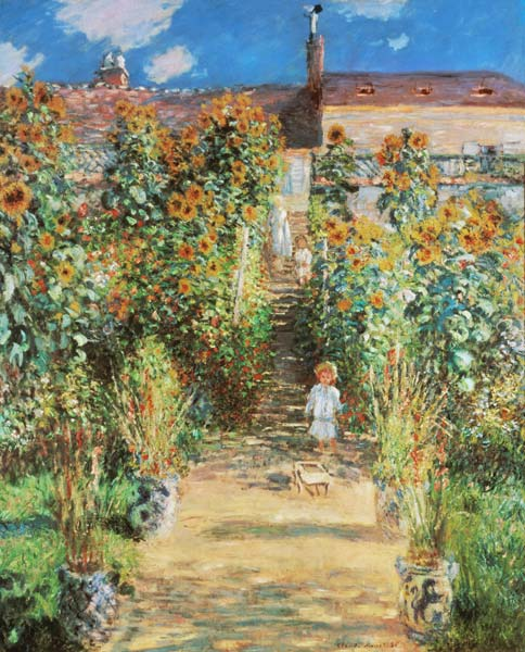 Der Garten Des Künstlers In Vétheuil Claude Monet As Art Print Or