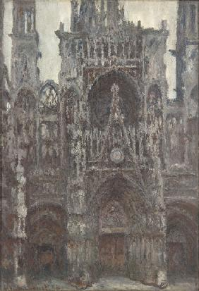 The Rouen Cathedral. The portal as seen from the front