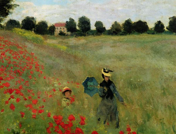 Poppies Near Argenteuil Detail  Oil Painting Of Claude Monet As Art Print Or Hand Painted