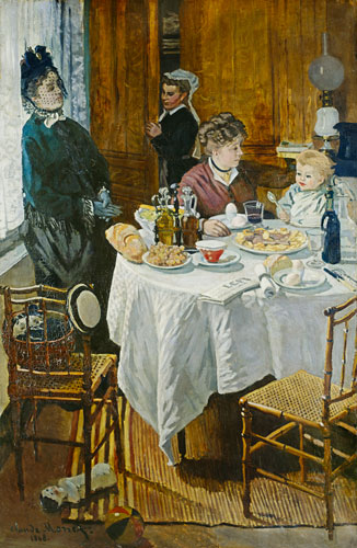 Le Dejeuner Breakfast Scene In The Room Claude Monet As