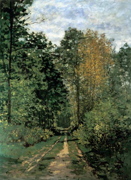 Path In The Forest Oil Painting Of Claude Monet As Art