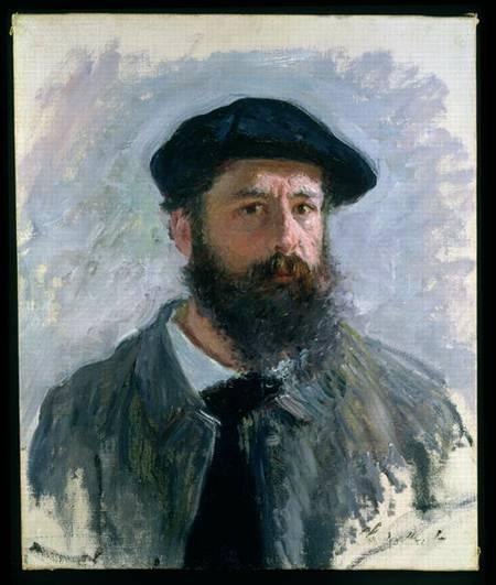 Self Portrait With A Beret Claude Monet As Art Print Or