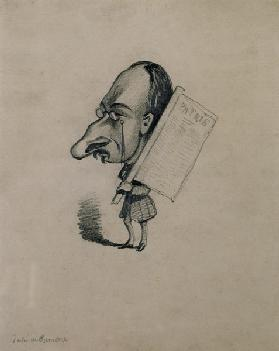 Jules de Premaray (1819-68) from a photograph by Nadar, c.1858 (pencil on paper)