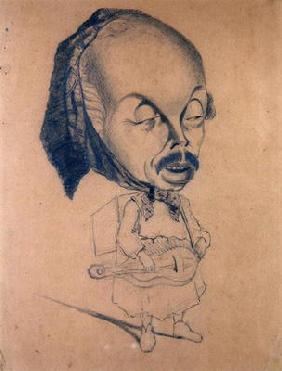 Adolphe d'Ennery (1811-99) after Nadar, 1855-60 (black crayon on paper)